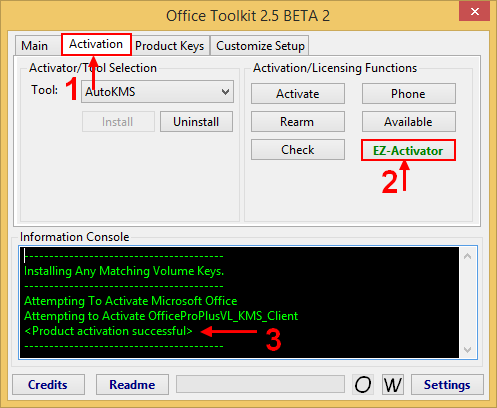 Cannot activate because this product is incapable of kms - Activation office 2013 sans telephone ...