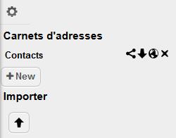 Préférences du carnet d'adresse OwnCloud