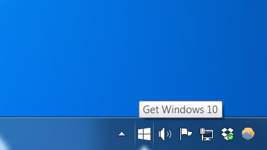 Notification in Windows 7 taskbar