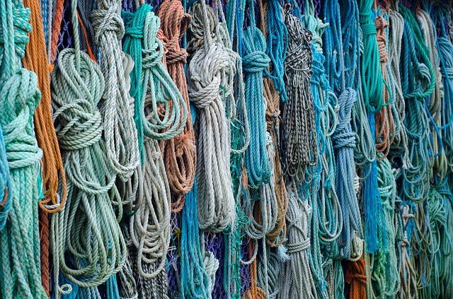 Des cordes de pêche